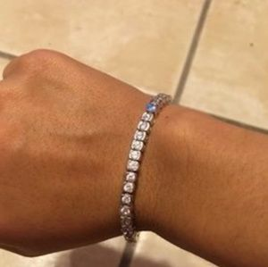 Diamond Bracelet 1 ct tw Round-cut 10K white Gold